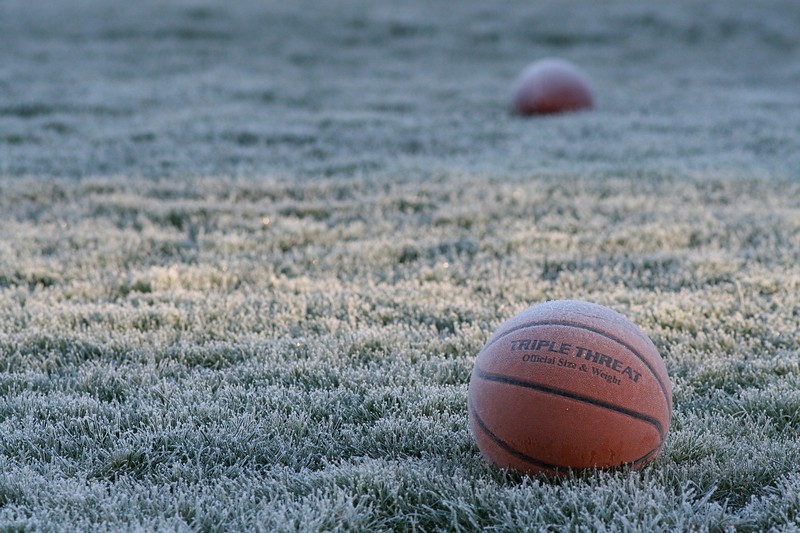 Forgotten Ball on a frosty morning