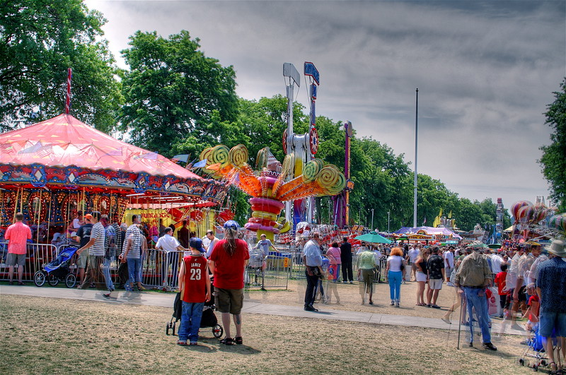 Rose festival fair in HDR