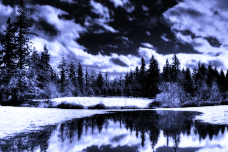winter landscape infra-red