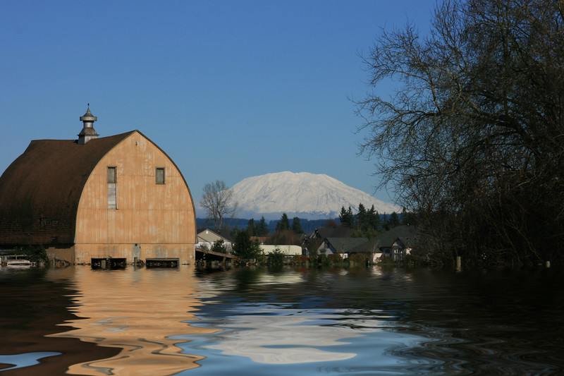 Brown Barn Flooded