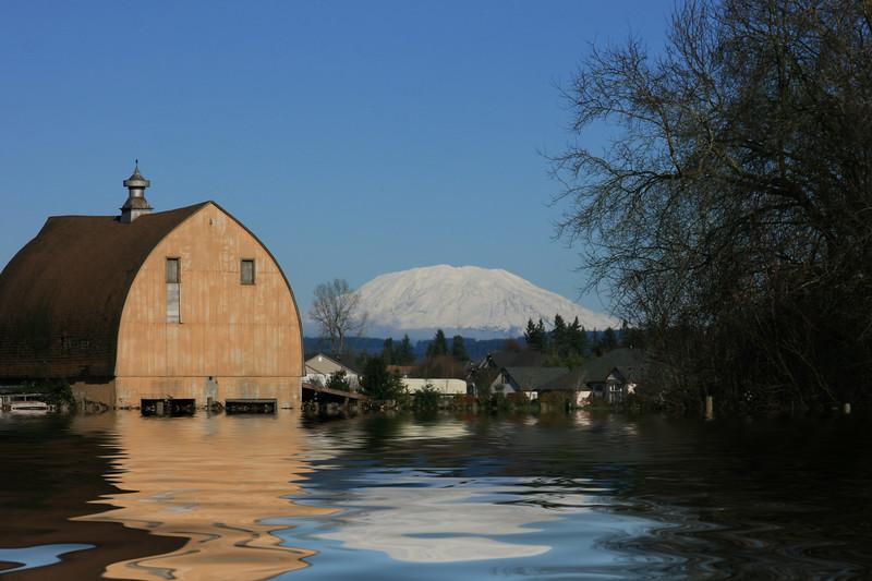 Brown Barn Flooded