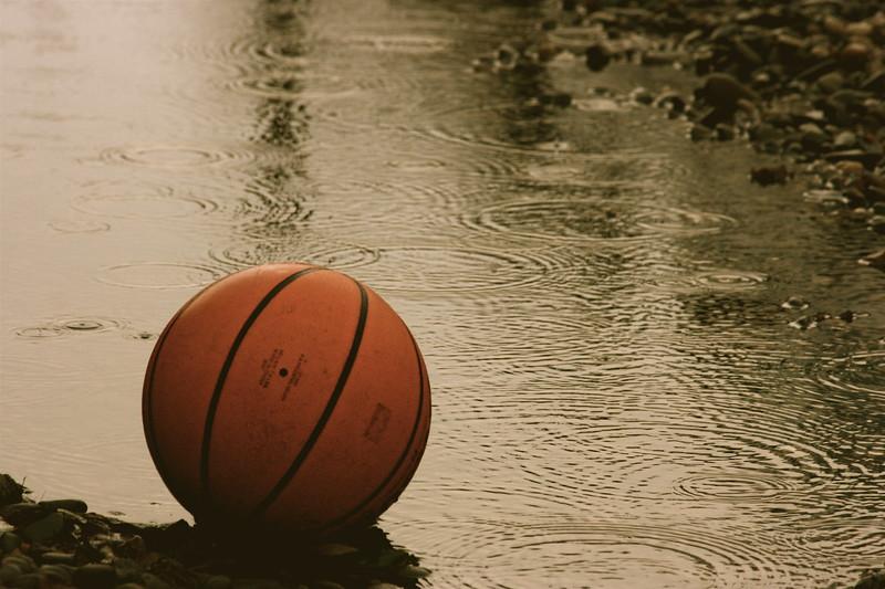 Basketball in the rain