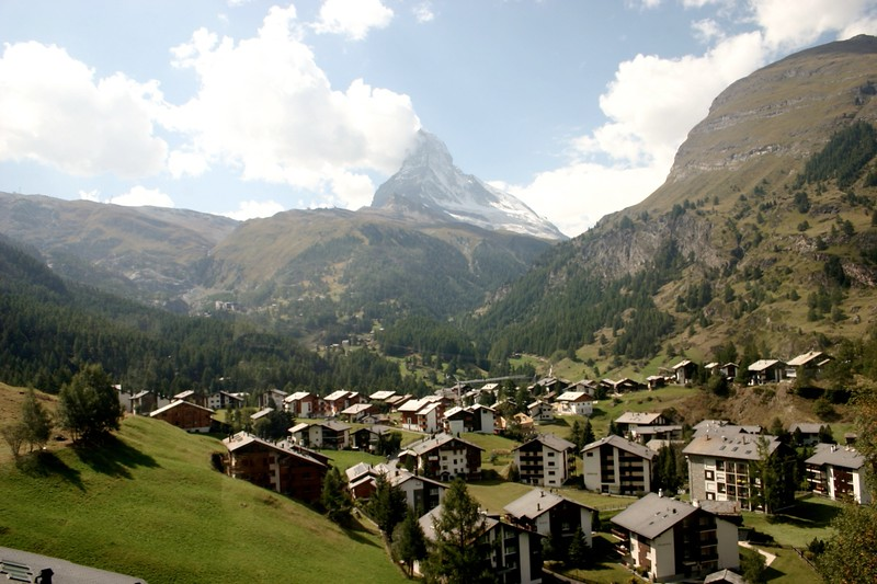 The town below Matterhorn