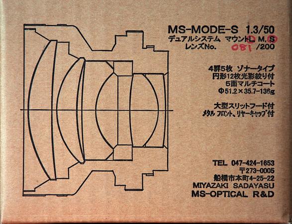 MS Optical 50mm f/1.3