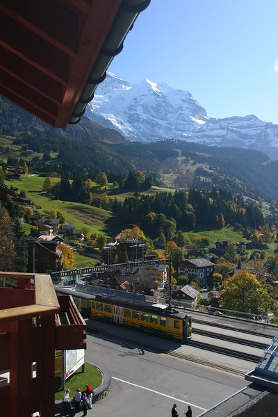 The view from our room at the Eiger