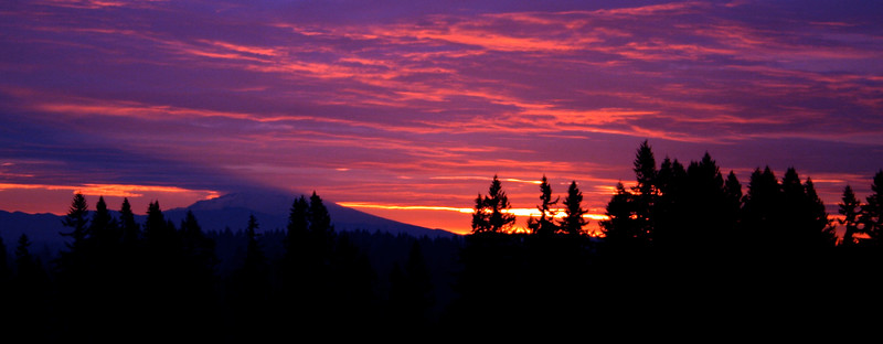 Panoramic Sunrise of Mt. Hood
