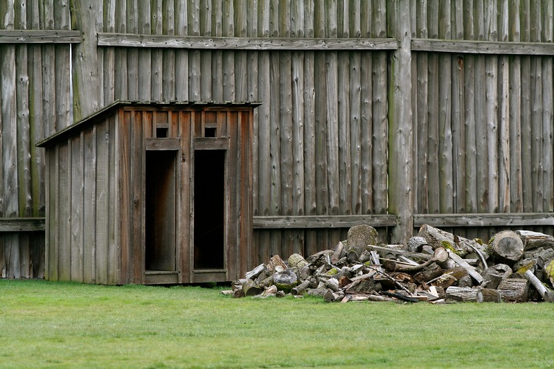 Double Out House at Fort Vancouver