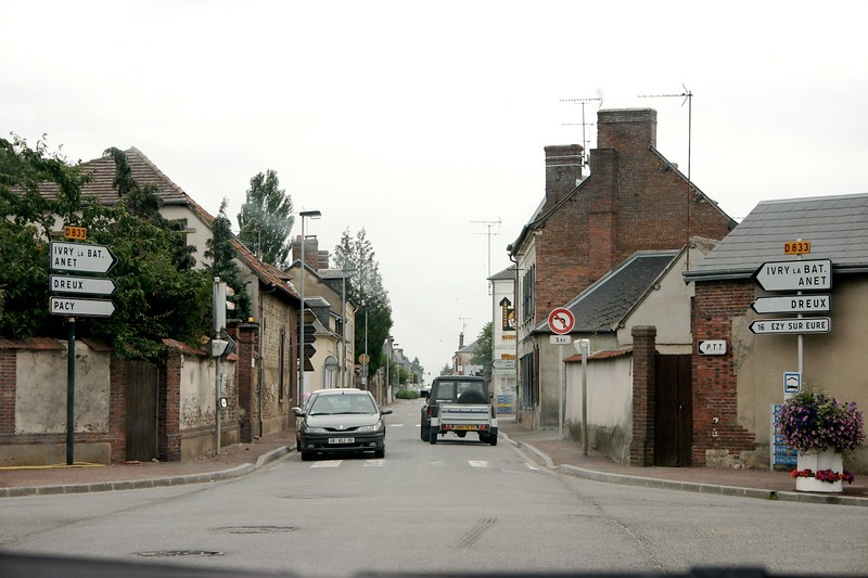 Small town driving in France