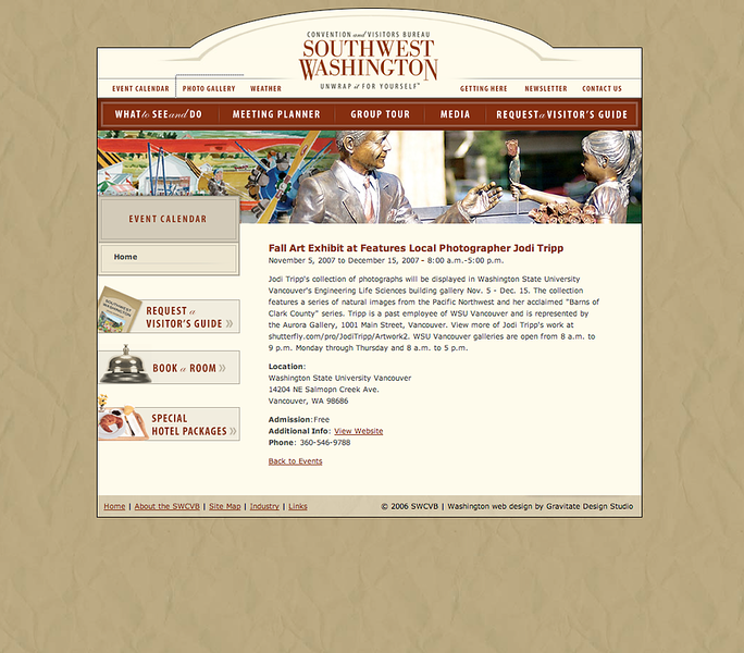 SW Washington Tourism page