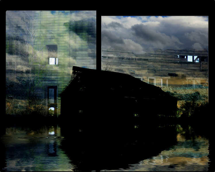 Barn Collage flooded 2