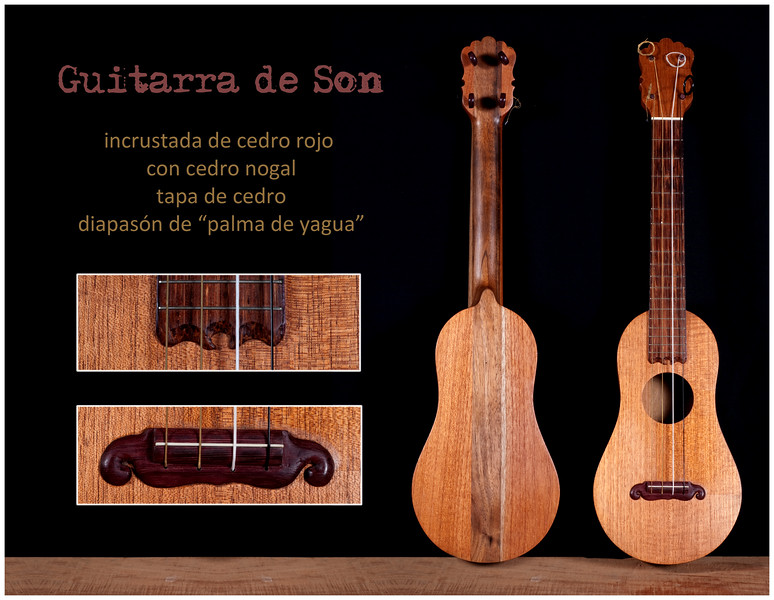Guitarra de Son incrustada