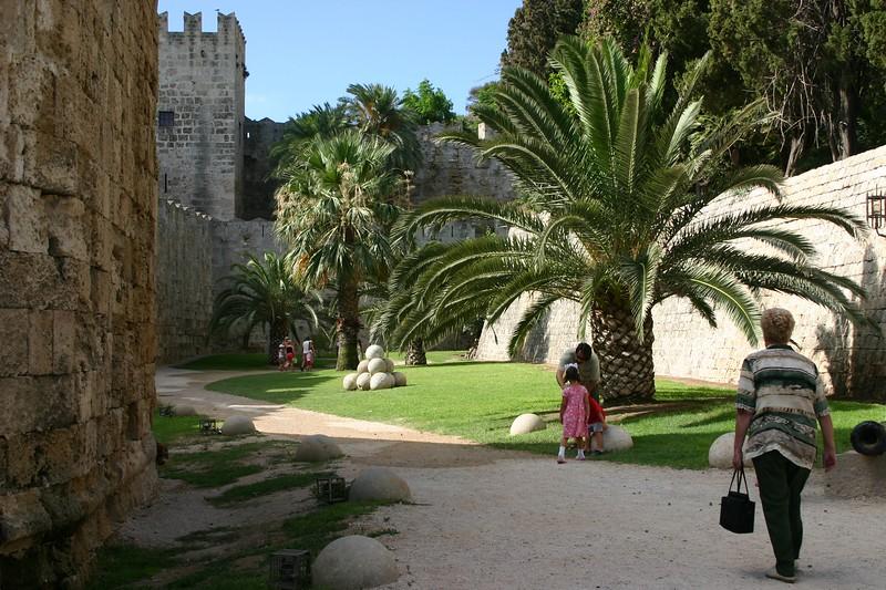 Moat to Rhodes Castle