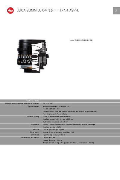 Leica Summilux 35mm f/1.4 ASPH v1