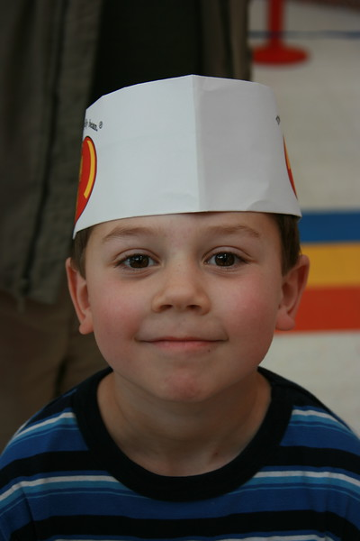 Charlie at the Jelly Belly Factory
