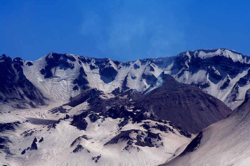 Inside the crater of Mt. St. Helens