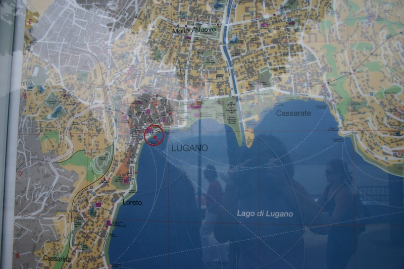 Map of Lugano
