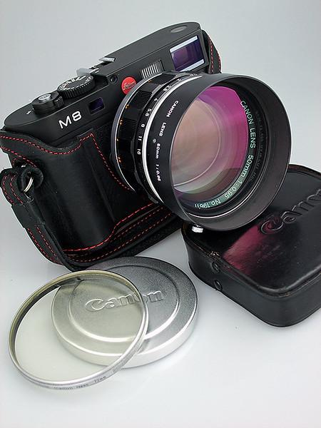 Leica M8, Canon 50mm f/0.95 M-mount