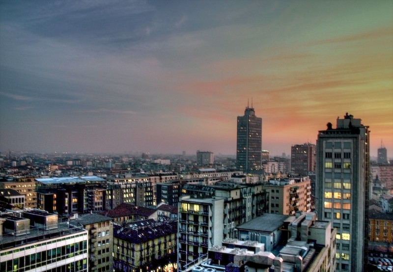 milan sunset hdr