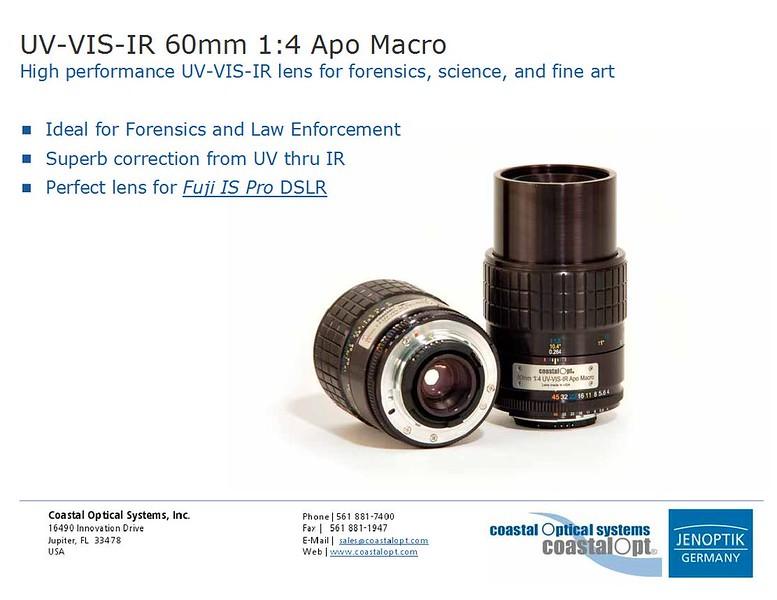 CoastalOpt® UV-VIS-NIR 60mm f/4