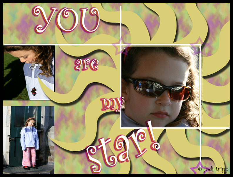 Chloe scrapbook page