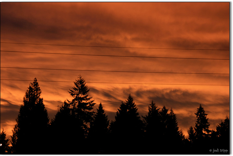 This morning's sunrise (straight from the camera)