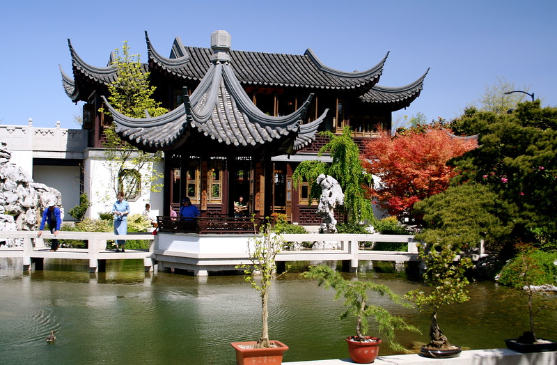 The Chinese Garden In Portland Oregon