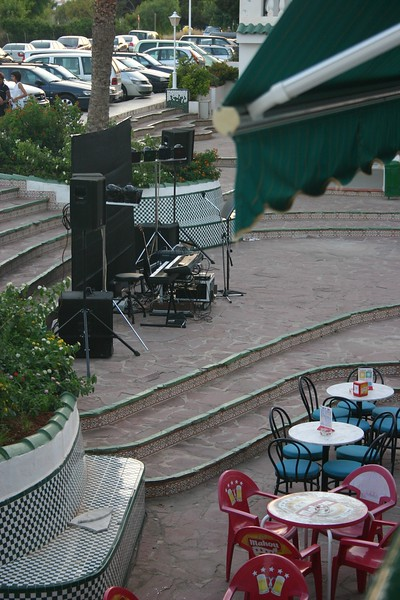 The band setting up