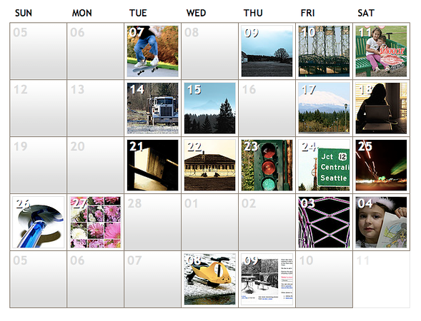 My Explore Calendar