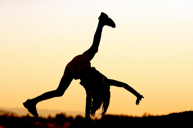 cartwheels at dusk