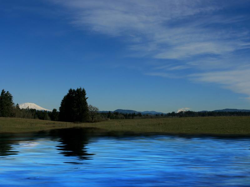 Mt St. Helens & Adams