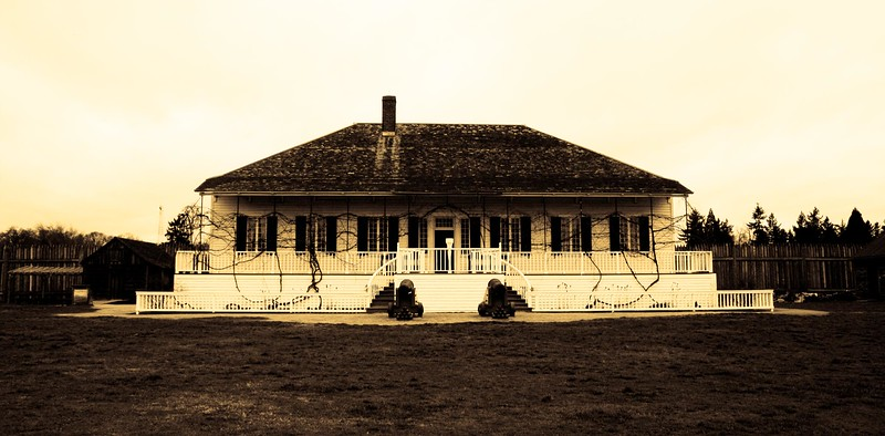 White house Antique at Fort Vancouver