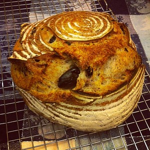 Another good looking loaf of #olive #bread #jux