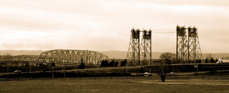 Interstate Bridge view from Fort Vancouver