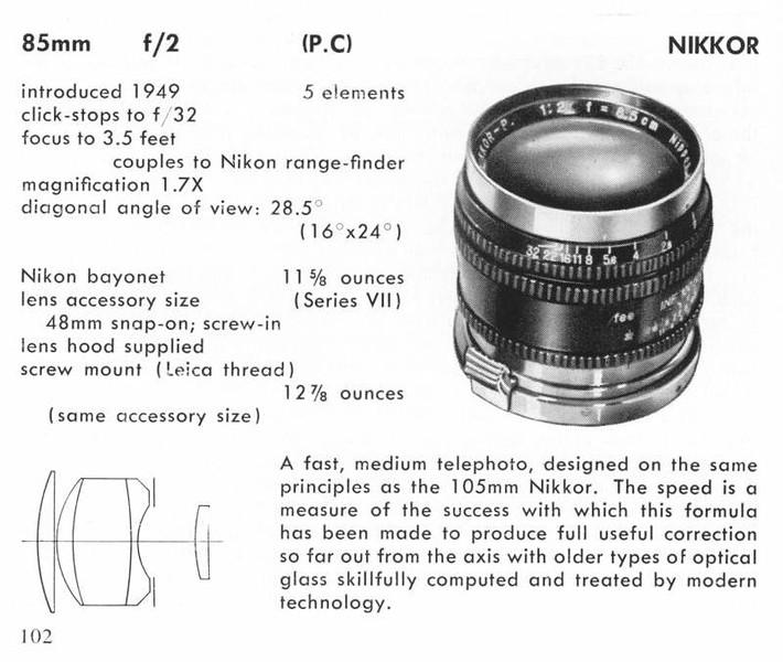 Nikkor-P.C 8.5cm f/2 LTM Ad