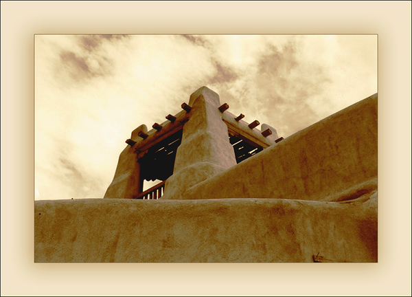 Taos Architecture in Sepia