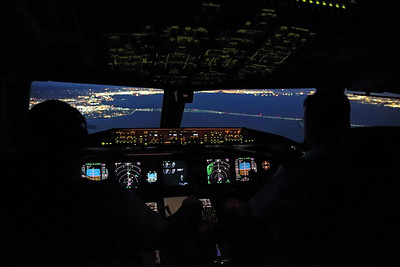 Approach to San Francisco with the Bay Bridge ahead