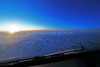 Greenland interior at sunrise just before midday