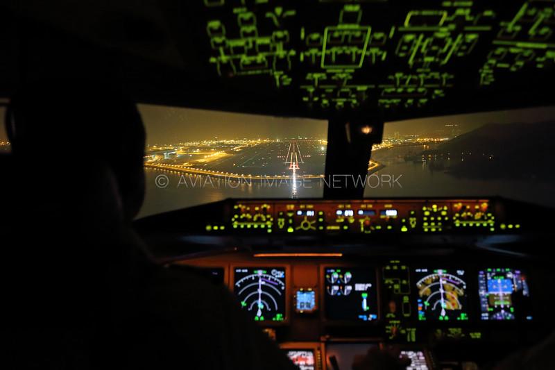 Approach to Hong Kong Runway 07R