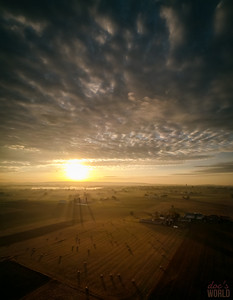 1562 - uasp - Sunrise Hay Bales