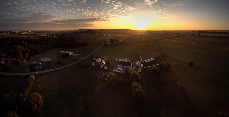 1543 - uasp - Peters Road Sunrise Panorama