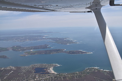 More Rhode Island coast, Martha's Vineyard in the distance