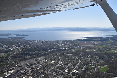 Burlington, looking across Lake Champlain toward upstate New York.