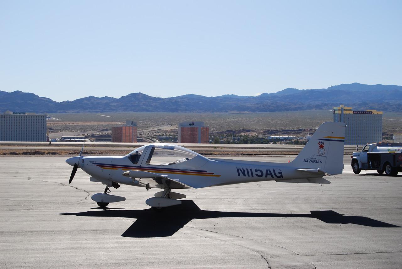 2nd fuel stop, Bullhead City, AZ.  Casinos of Laughlin, NV in background.