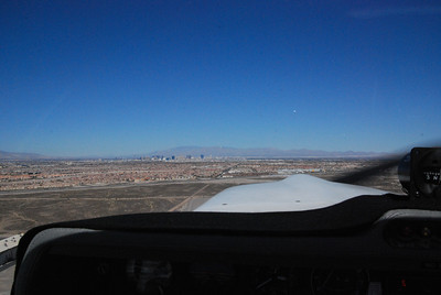 View of the strip while taking off from Henderson.