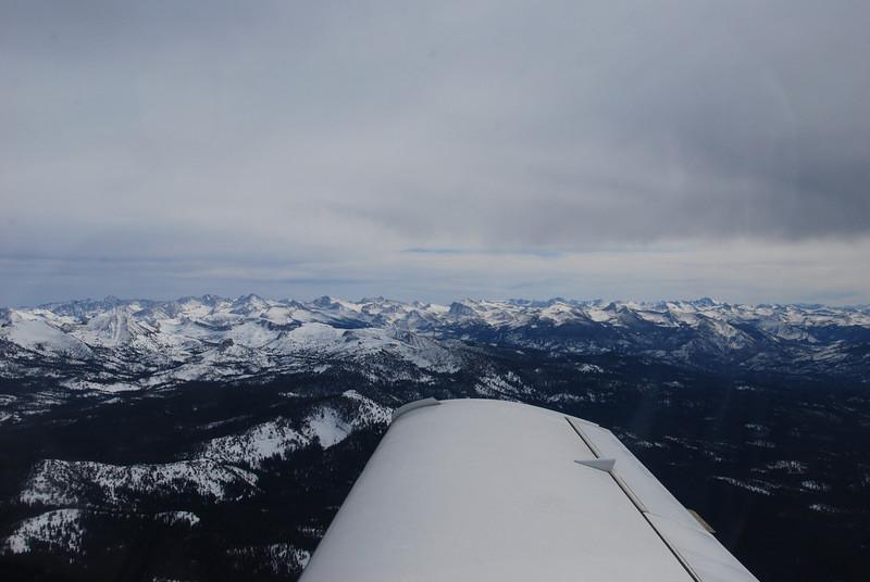 Heading across the Sierras toward Mamoth Lakes