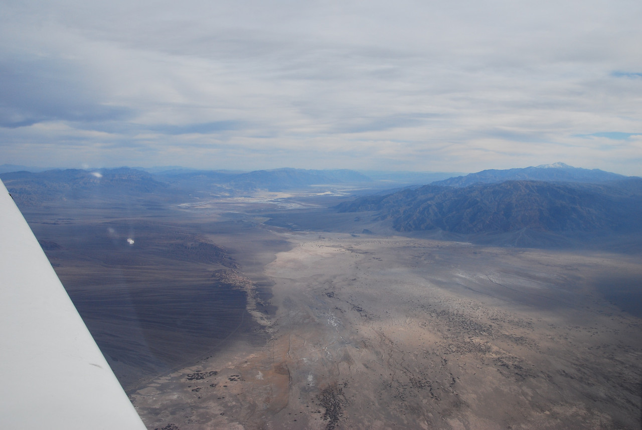 Looking south across Death Valley