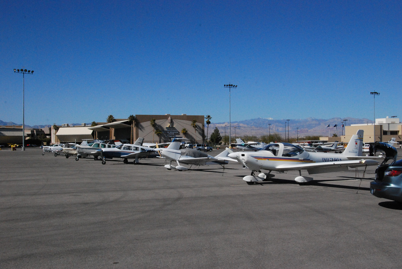 Henderson Executive Airport, Nevada, about 10 miles south of the Las Vegas strip.