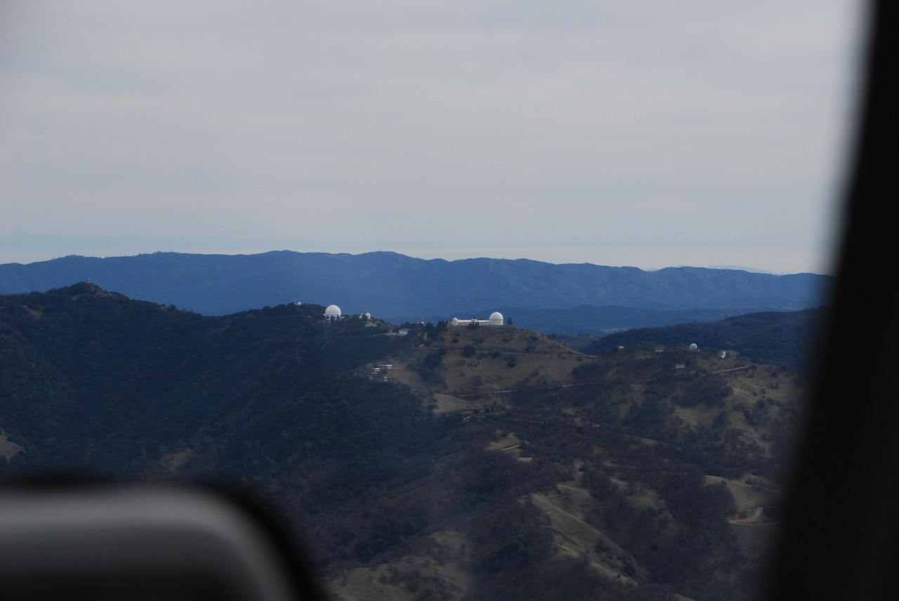 After departing RHV heading east, nice view of Lick Observatory on Mt Hamilton.