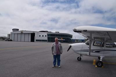 Arrived Northeast Aviation, Portland ME. Notice the fog, instead of burning off, it got a lot worse, unplanned overnight stay.