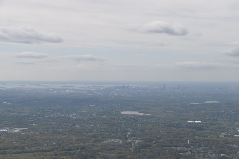 Visibility was clear enough to see downtown Boston as I approached my destination of Hanscom Field.